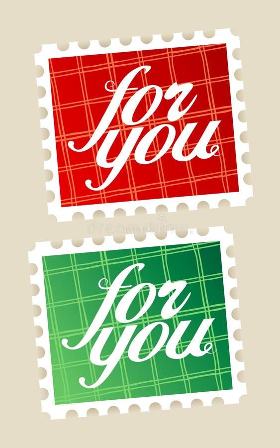 Per voi francobolli. royalty illustrazione gratis