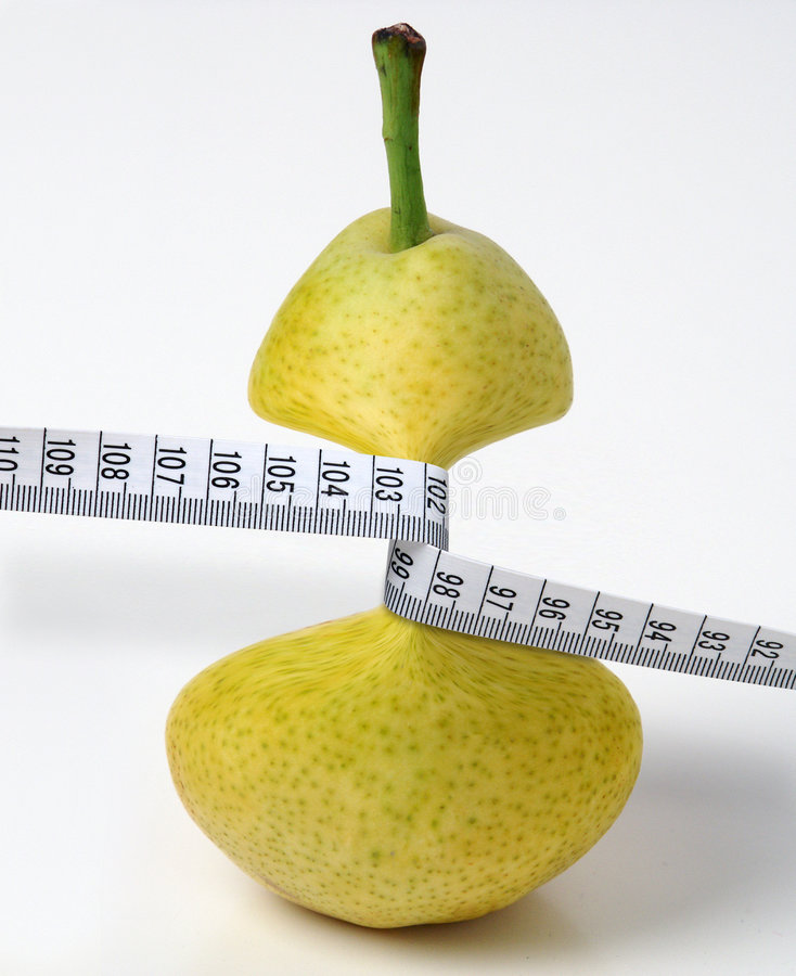 Pera anoressica fotografia stock
