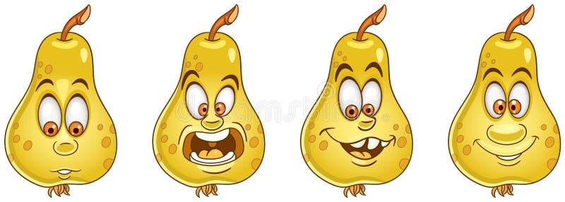 Pera Concetto dell'alimento della frutta royalty illustrazione gratis