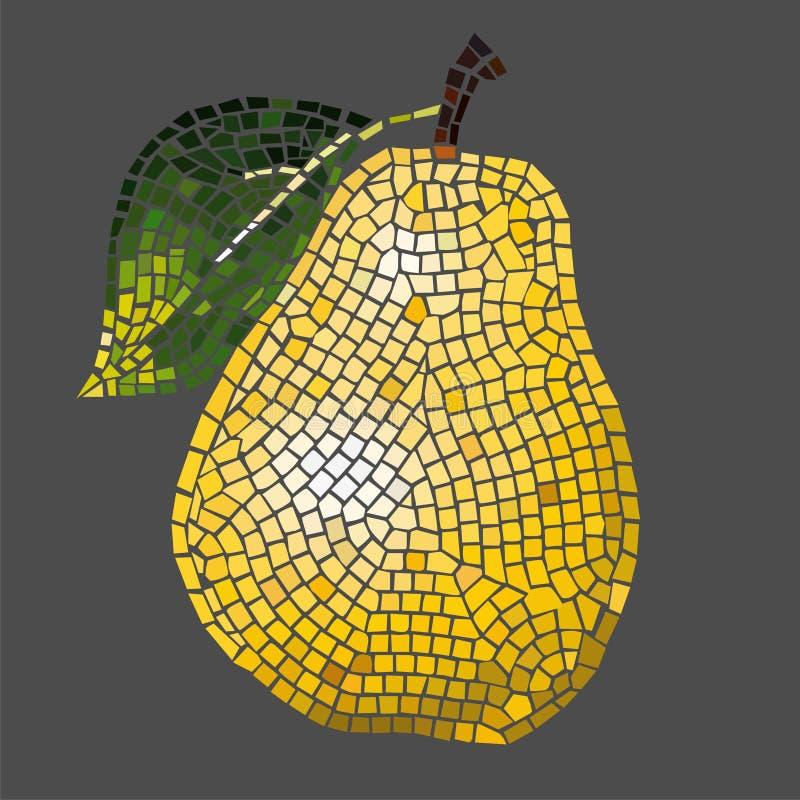 Pera del mosaico ilustraci n del vector ilustraci n de color 4279723 - Mosaico de colores ...