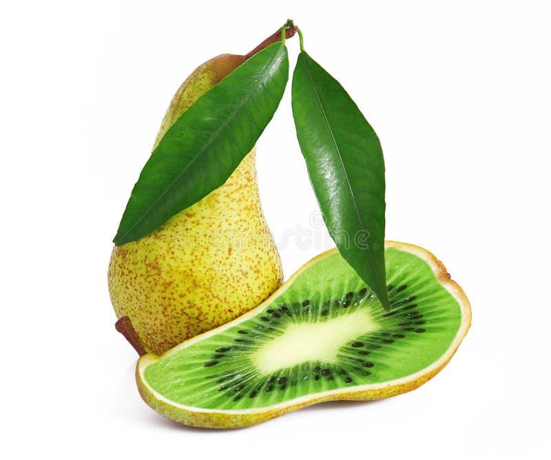 Pera-kiwi de la fruta de Ibrid foto de archivo libre de regalías
