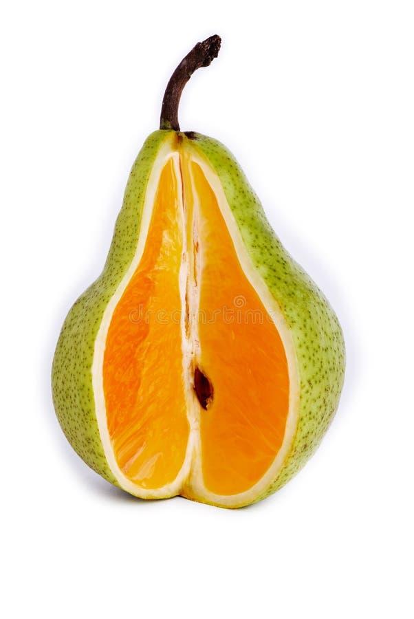 Download Pera/naranja foto de archivo. Imagen de pera, corte, fresco - 7284478