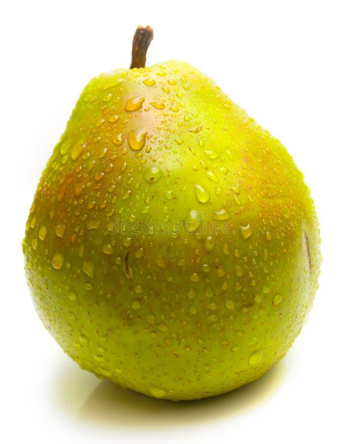 Pera verde sugosa 3 fotografia stock