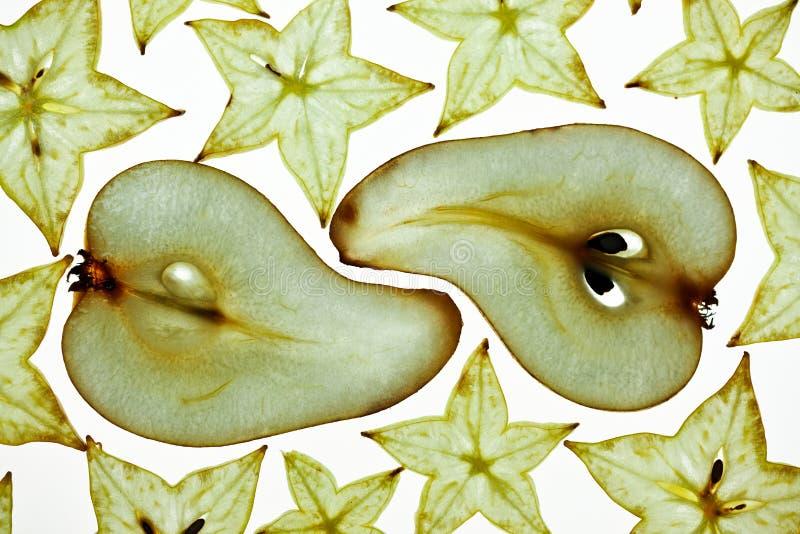 Pera y Starfruit foto de archivo libre de regalías