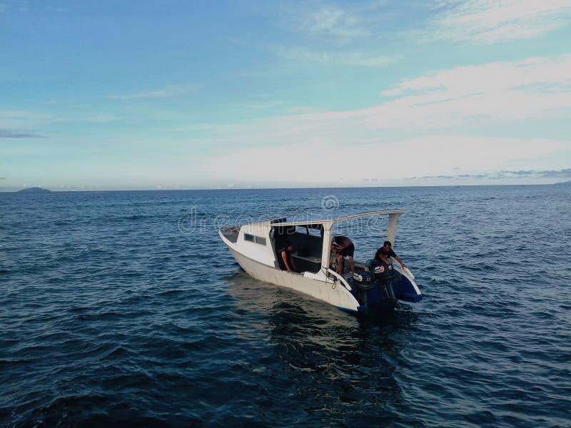 Perahu Di Laut royalty-vrije stock fotografie