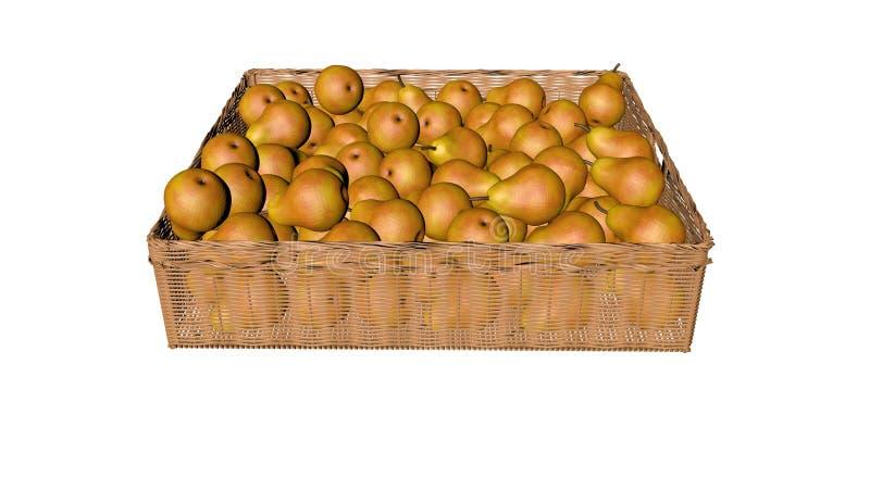 Peras, en la cesta imagen de archivo
