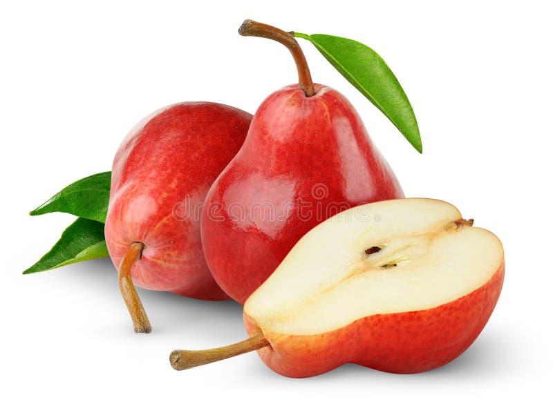 Peras rojas foto de archivo