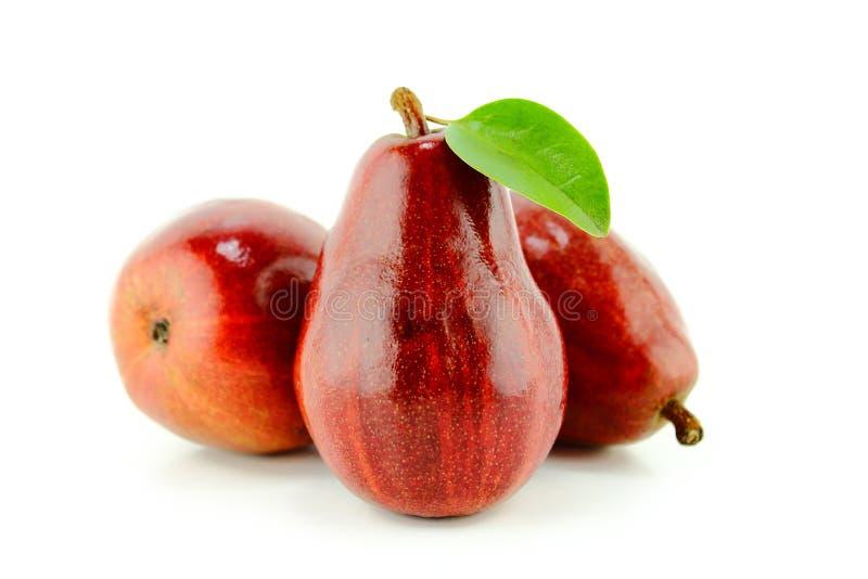 Peras vermelhas fotos de stock royalty free