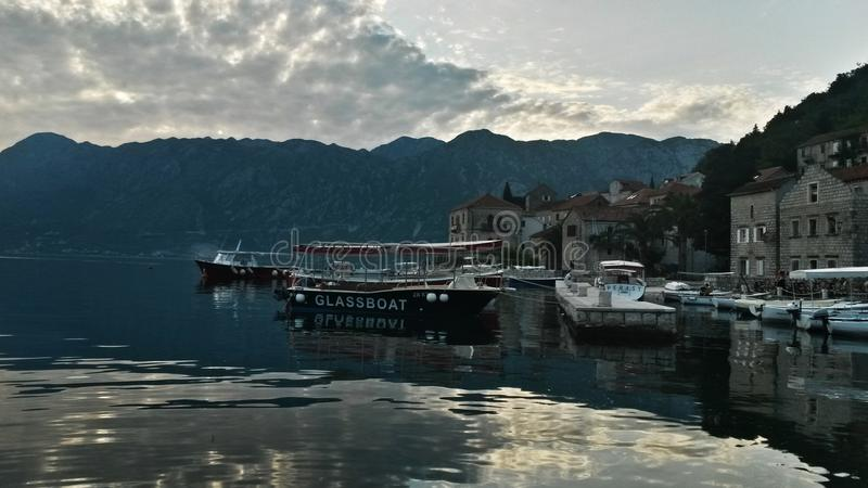 Perast,黑山旅行 免版税库存图片