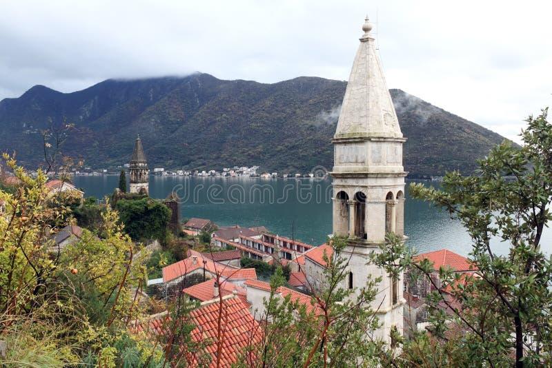 Perast, Μαυροβούνιο στοκ φωτογραφία