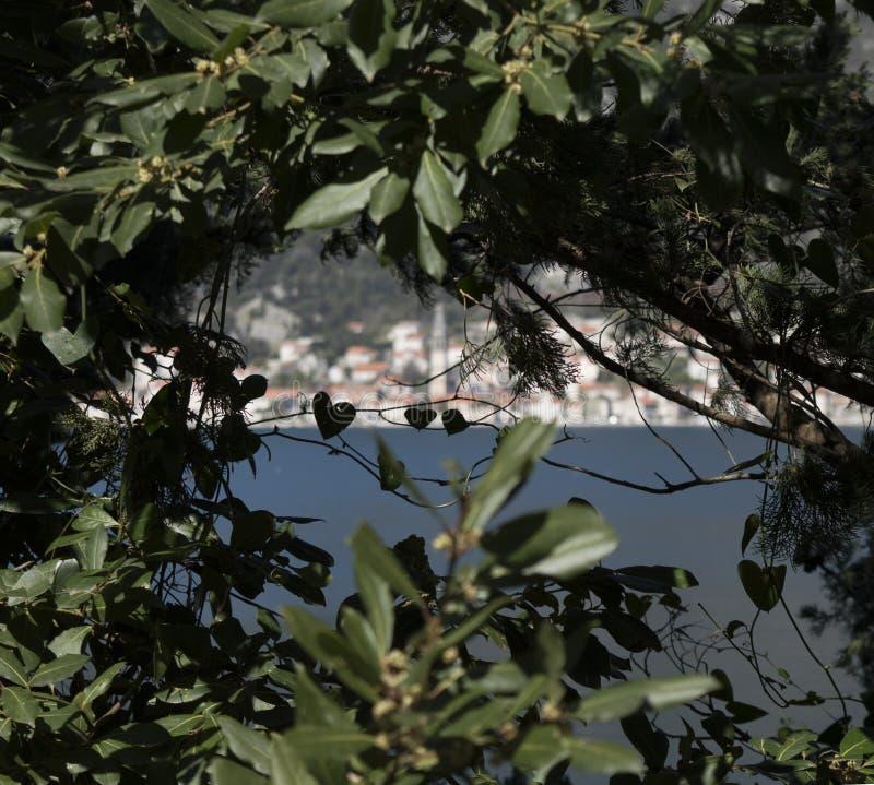 Perast, πόλη στο Μαυροβούνιο στην αδριατική θάλασσα στοκ εικόνες με δικαίωμα ελεύθερης χρήσης