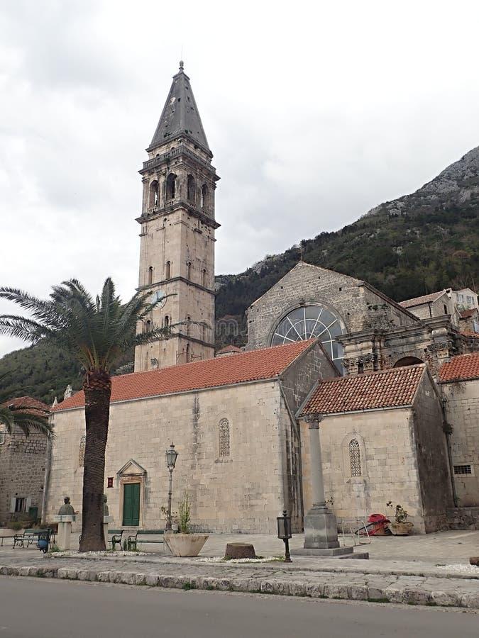 Perast старый городок на заливе Kotor в Черногории Оно расположено немного километров к северо-западу от Kotor стоковые фотографии rf
