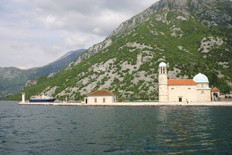 perast abbey po benedyktyńsku obrazy royalty free