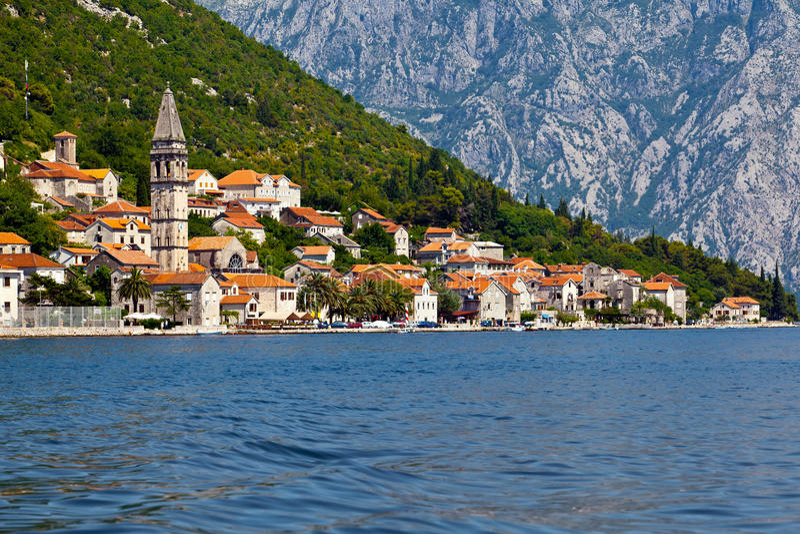 Perast city, Montenegro royalty free stock photo