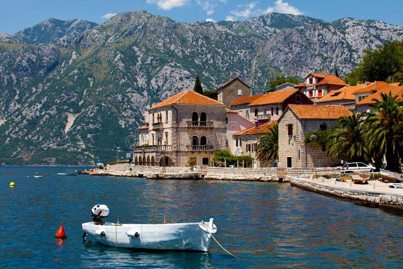 Perast city, Montenegro royalty free stock photography