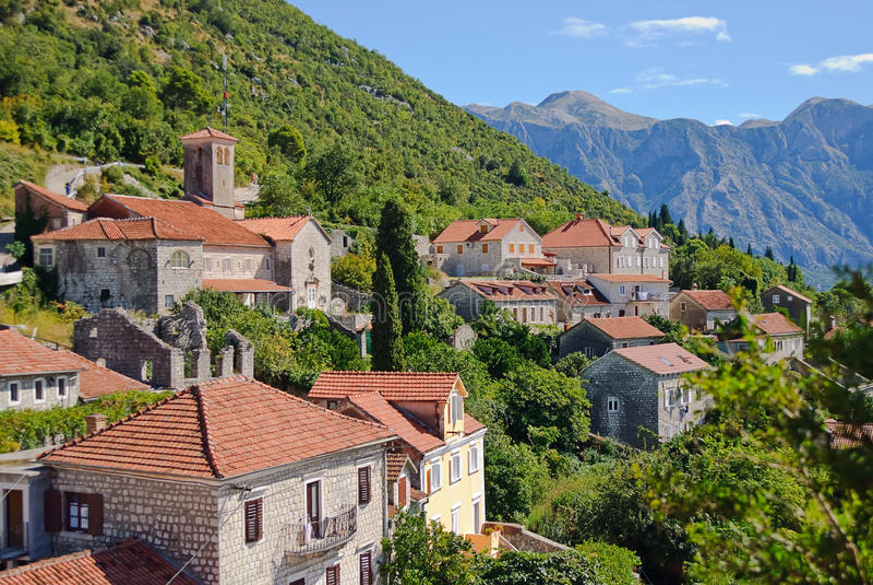 Download Perast city view stock image. Image of mediterranean - 16475447