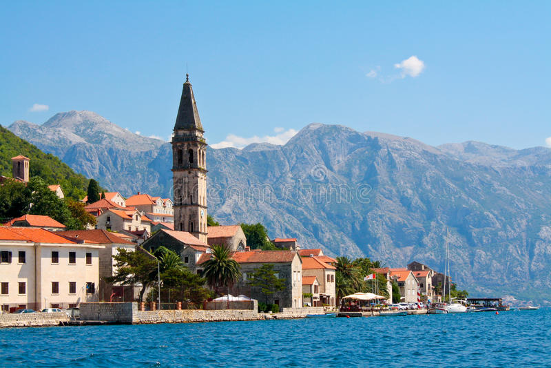 Perast, Montenegro stock afbeelding
