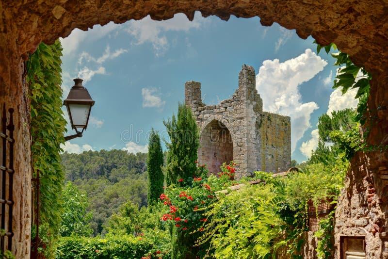 Peratallada, Costa Brava, Cataonia, Spagna fotografie stock libere da diritti