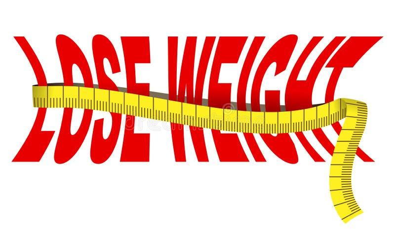 Perca o peso ilustração stock
