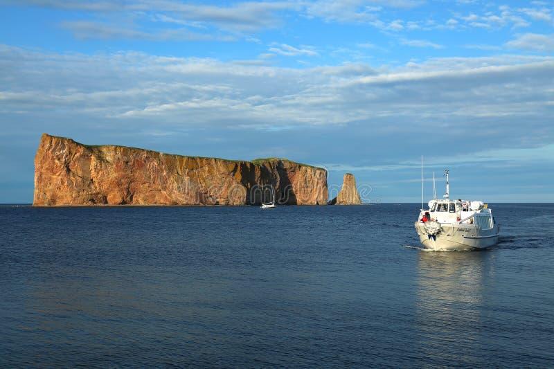 Perce de Rocher dans Gaspesie, Québec photos libres de droits