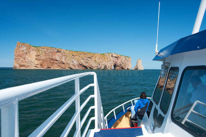 Download Perce Rock Seen From A Boat Stock Photo - Image of boat, rock: 10260588