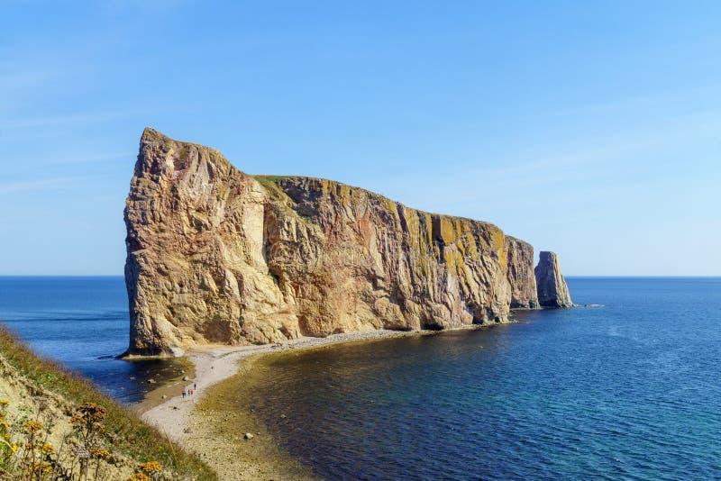 Perce rock, at the tip of Gaspe Peninsula stock photos