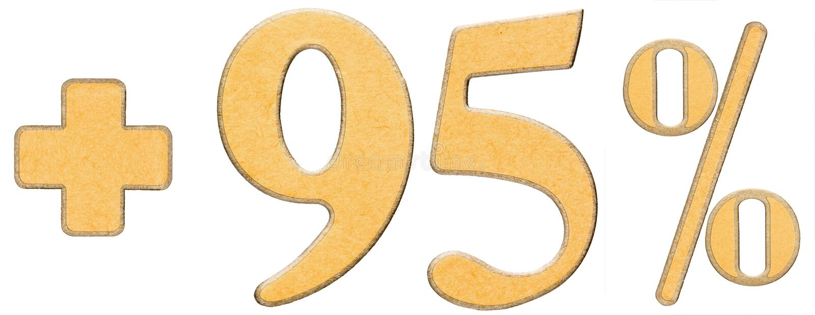 Download Percent Benefits, Plus 95 Ninety Five Percent, Numerals Isolated Stock Photo - Image: 83713854