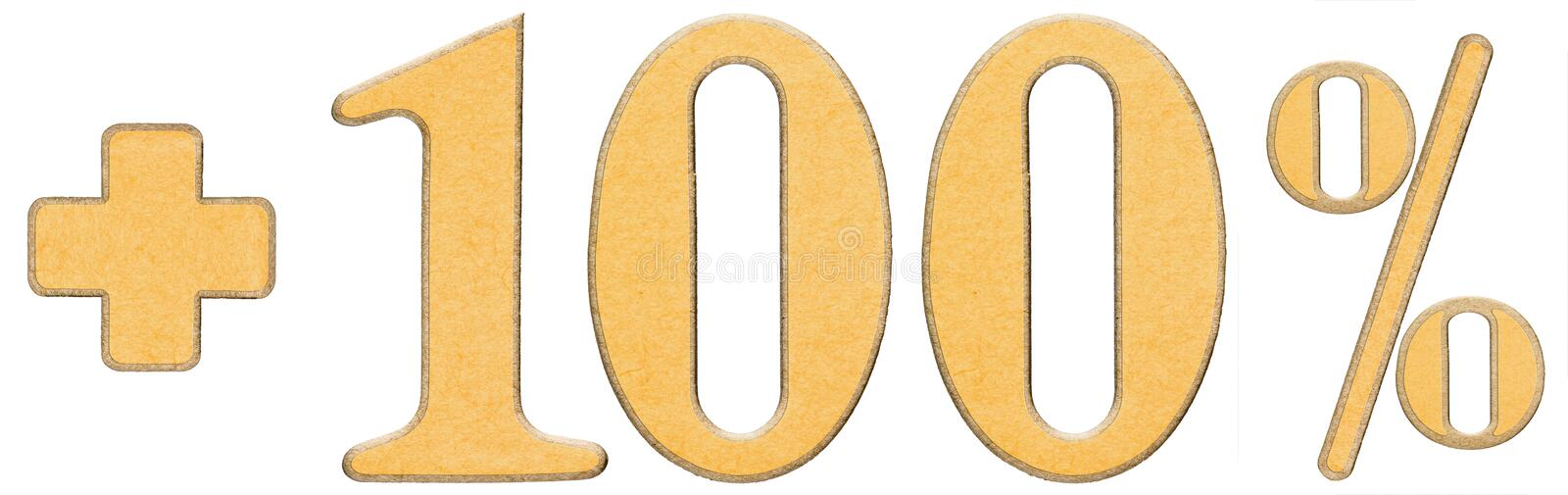 Download Percent Benefits, Plus 100 One Hundred Percent, Numerals Isolate Stock Image - Image: 83712867