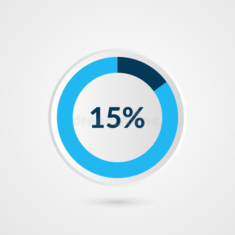 15 percent blue pie chart percentage vector infographics circle 15 percent blue grey and white pie chart percentage vector infographics circle diagram business illustration ccuart Images