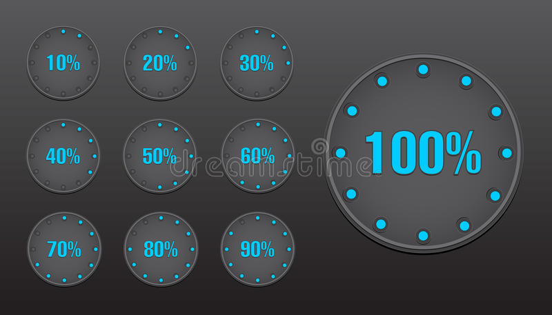 Download Percent Circle Buttons stock vector. Image of round, illustration - 33379880