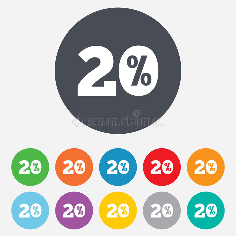Download 20 Percent Discount Sign Icon. Sale Symbol. Royalty Free Stock Photos - Image: 36728488