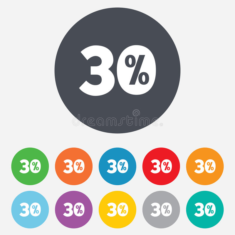 Download 30 Percent Discount Sign Icon. Sale Symbol. Stock Photos - Image: 36728493