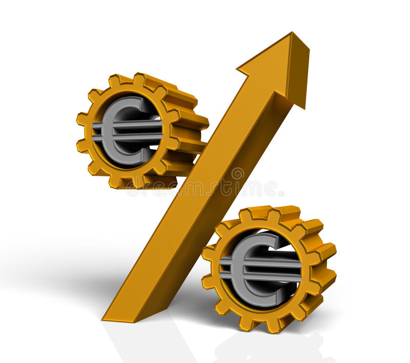 Percent Stock Illustration