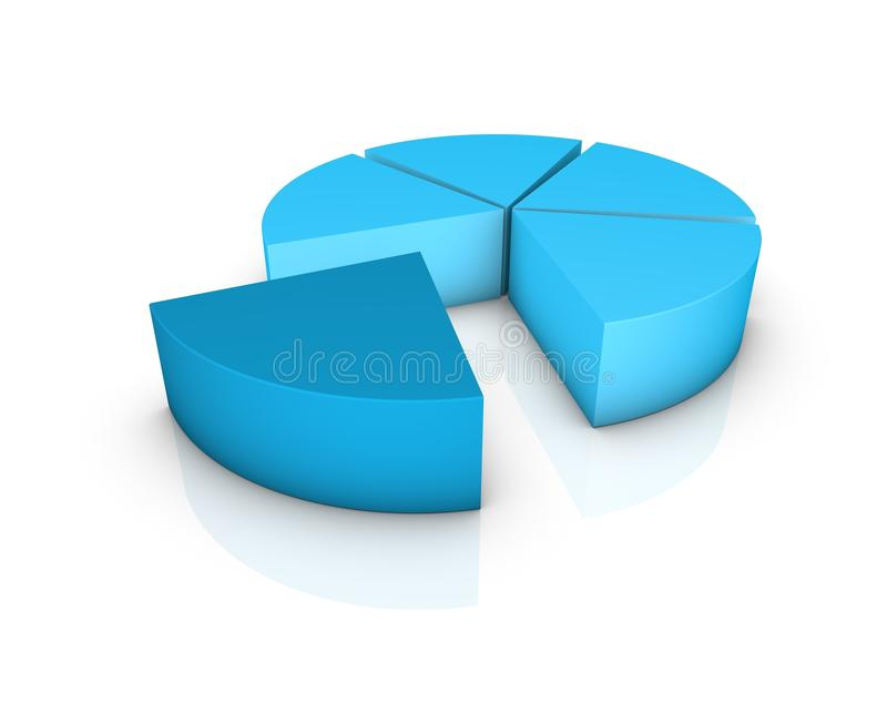 Percent graph royalty free stock photography