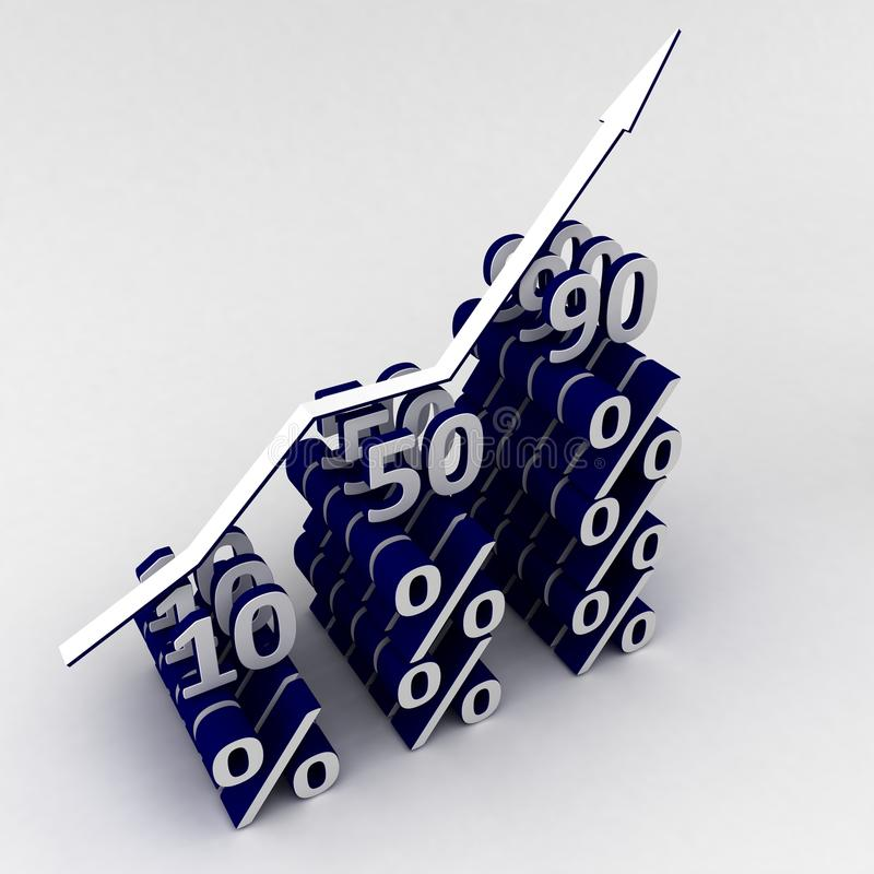 Percent Graph Royalty Free Stock Image
