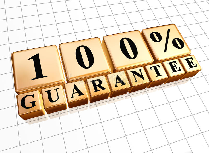 100 percent guarantee royalty free stock image