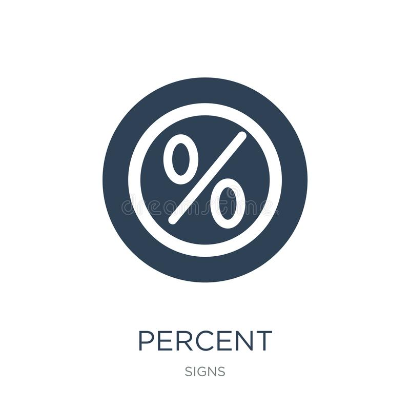 Percent icon in trendy design style. percent icon isolated on white background. percent vector icon simple and modern flat symbol. For web site, mobile, logo vector illustration