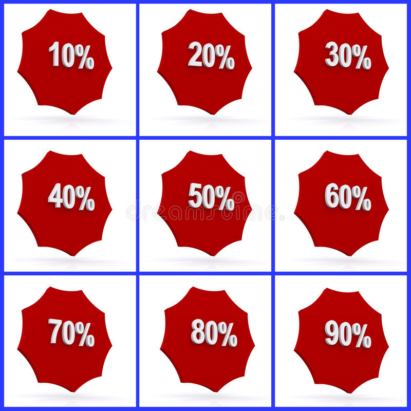 Percent Icons Stock Image