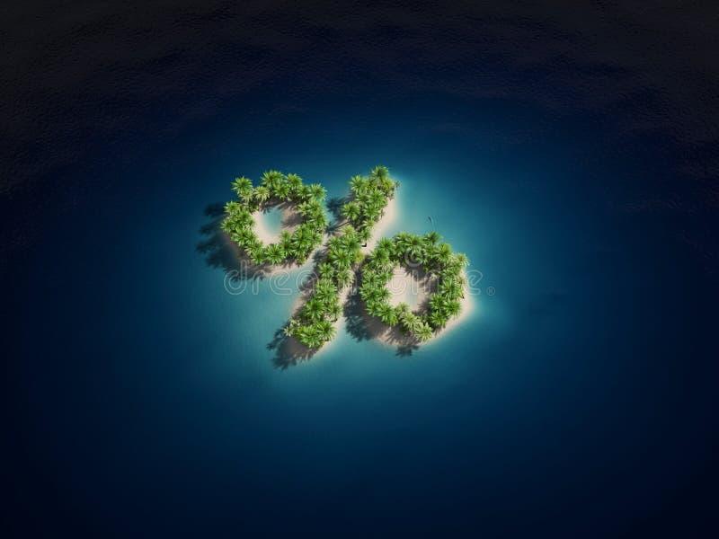 Download Percent island stock illustration. Image of paradise - 23934666