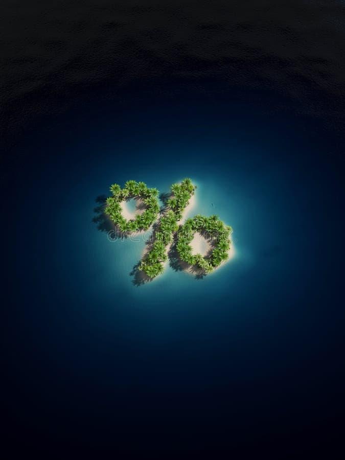 Percent Island Stock Images