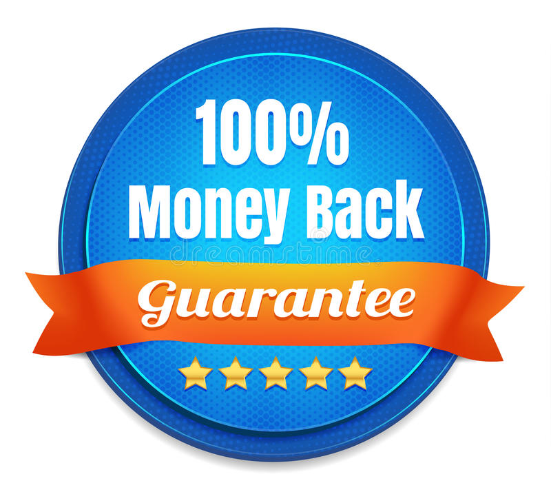 100 Percent Money Back Guarantee vector illustration