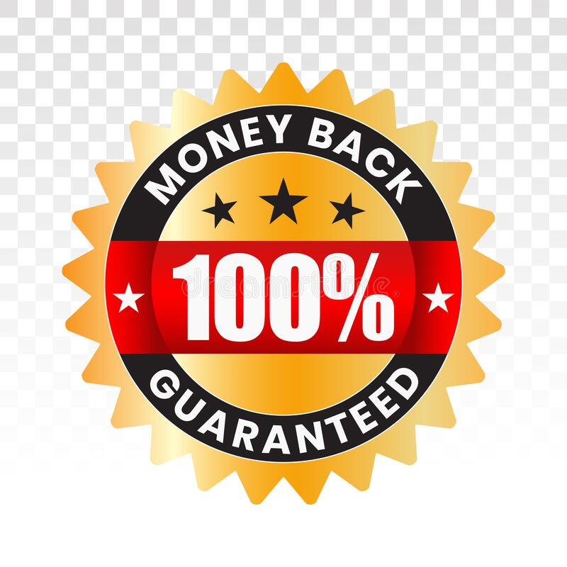 100 Percent Customer Satisfaction Seal With Transparent
