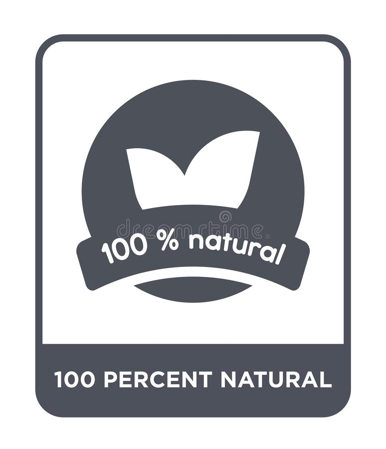 100 percent natural icon in trendy design style. 100 percent natural icon isolated on white background. 100 percent natural vector stock illustration