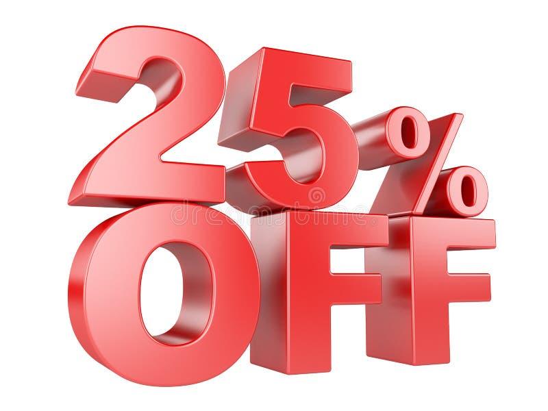 25 percent off 3d icon. stock illustration