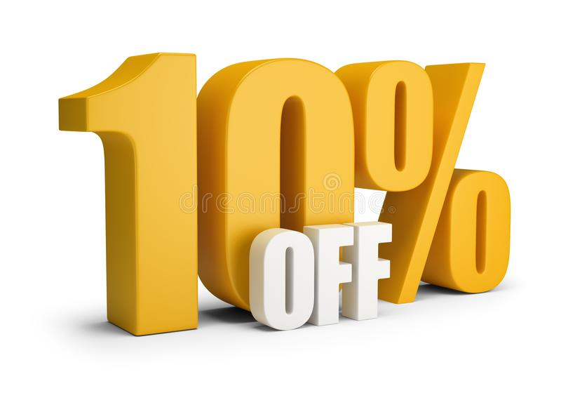 10 percent OFF stock illustration