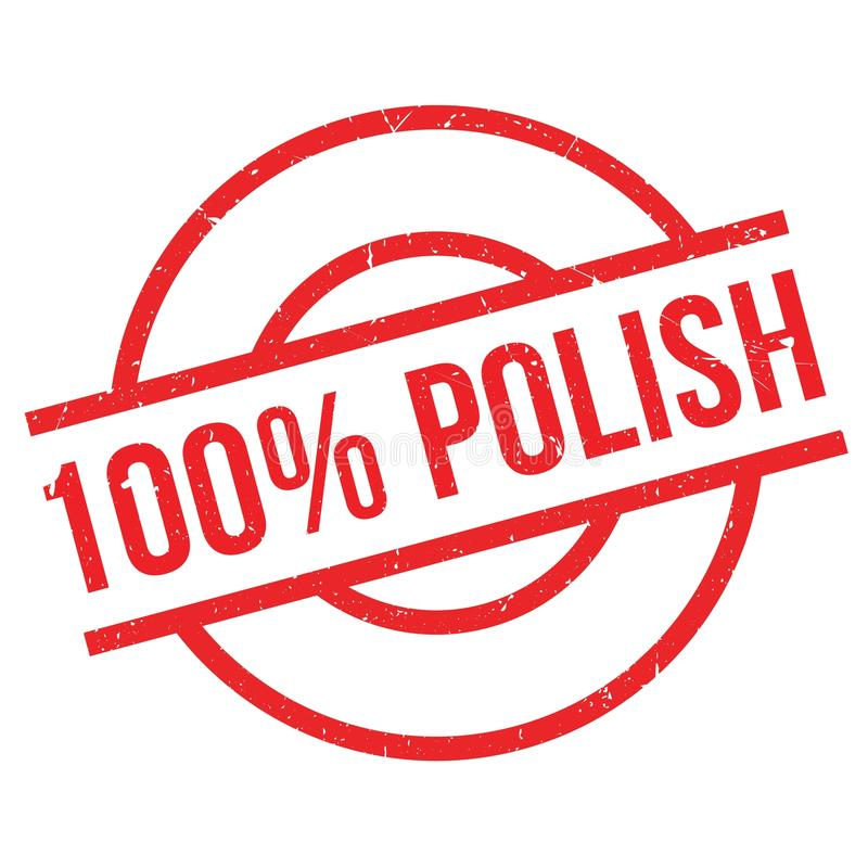 100 percent polish rubber stamp. Grunge design with dust scratches. Effects can be easily removed for a clean, crisp look. Color is easily changed royalty free illustration