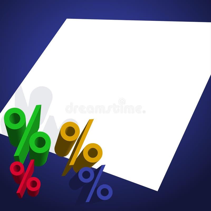 Percent Presentation vector illustration
