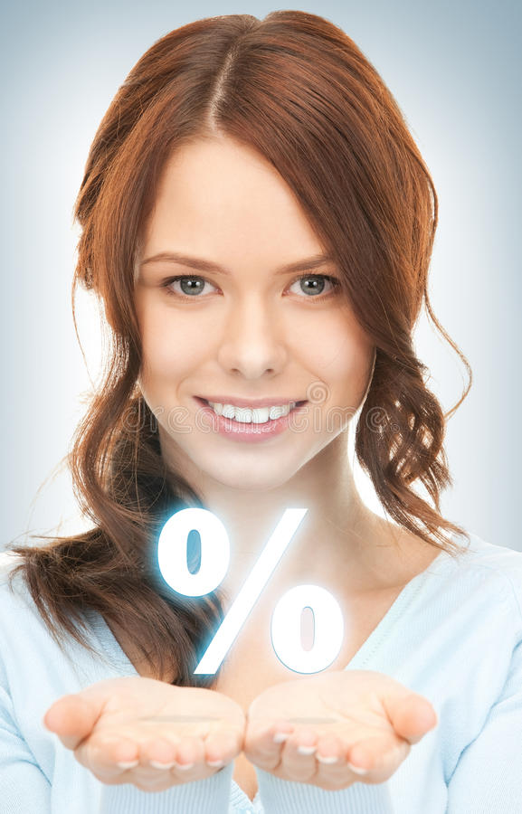 Download Percent sign on the palms stock image. Image of female - 39426697