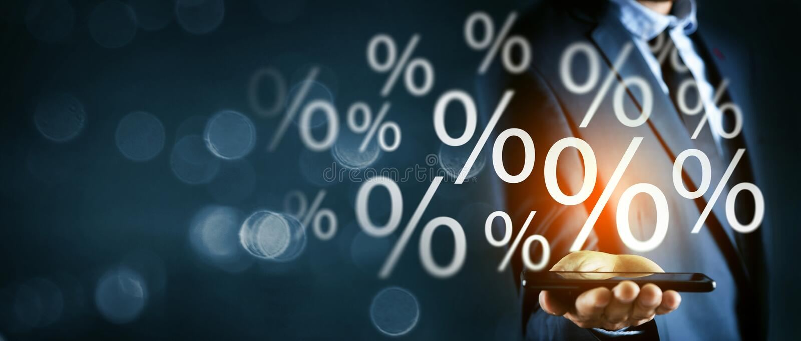 Percent sign percentage icon interest rate royalty free stock images