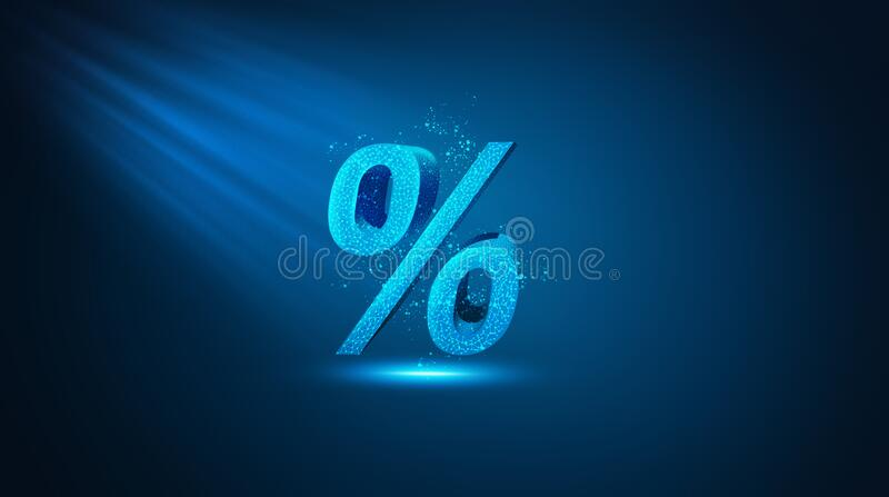 Percent sign percentage icon interest rate royalty free stock photos